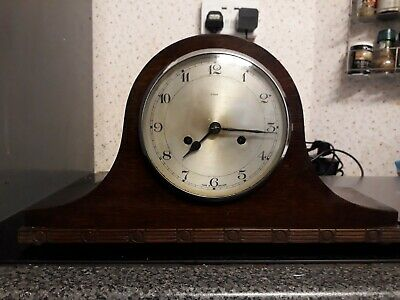 Antique / Vintage Napoleon Hat Oak Mantle Clock