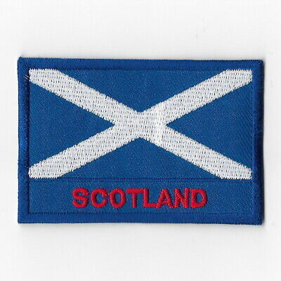 Scotland National Flag Iron on Patches Embroidered Applique Badge Emblem