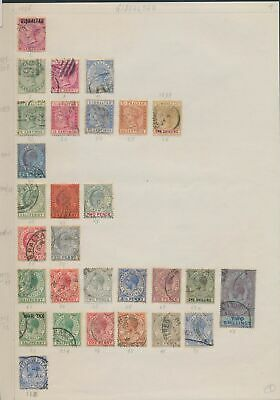XB43846 Gibraltar british monarchs nice lot of good stamps used