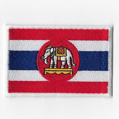 THAILAND THAI COLOR FLAG MAP Embroidered Iron on Patch Free Postage