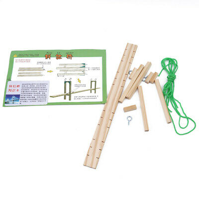 Cable-Stayed Suspension Bridge Assembled Construction Kids Educational Toy shan