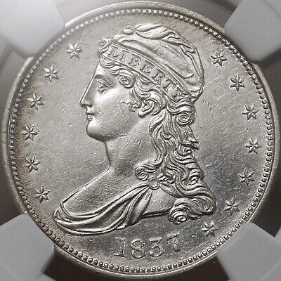 1837 Bust Half Dollar - NGC Certified AU Details - Nearly Uncirculated!