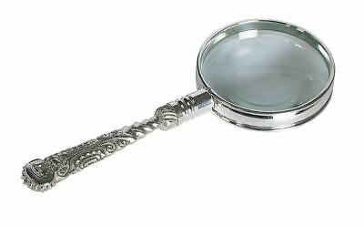 G464: Baroque Magnifying Glass Magnifier Glass in the Retro Style Brass