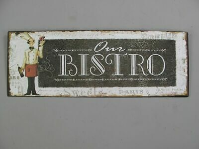Metal Sign,Advertisement Sign, Our Bistro, Catering Wall Sign 5 1/8x14 3/16in
