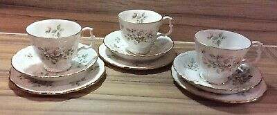 Set Of 3 Royal Albert 'Haworth' Tea Trio Set