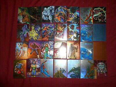 1996-90 CARD HUGE INSERT CHASE LOT MARVEL MASTERPIECES,FLAIR,SPIDERMAN,XMen NM/M