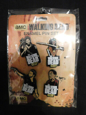 "Pin's "" The Walking Dead  "" Set complet de 4 RARE"