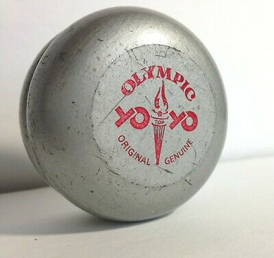 Olympic Yo Yo Silver & Red 70's Made in Sweden no string Collectible