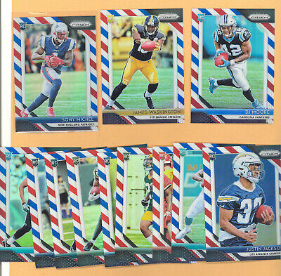 2018 Panini Prizm Red White Blue Football Card Lot Of 25+ Plus Rookies Michel !!