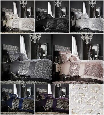 Cushion Covers Runners Katie Luxurious Shiny Laces Duvet Covers Bedding Sets