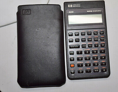 Hp 32S Rpn Scientific Calculator With Soft Case - Good Condition