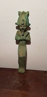 Rare Antique Ancient Egyptian Bronze statue God Osiris Under ground 1840-1760BC