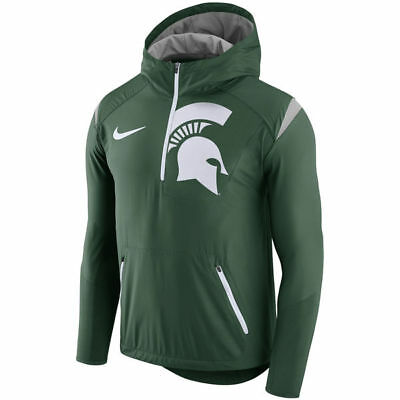 Brand New 2017 Nike Michigan State Spartans Sideline Fly Rush Half-Zip  Jacket 8ed6764cc