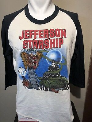 VTG 1982 Jefferson Starship Raglan Soft-thin Promo Tee-XL