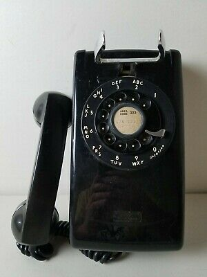 Vintage Bell Systems Western Electric Black Wall Mount Rotary Phone