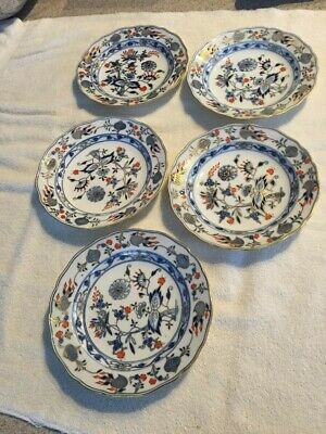 Meissen Blue Onion plates(5 of them) Crossed Swords 8""