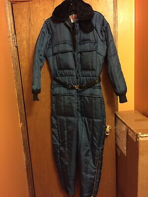Vintage WALLS Blizzard Pruf Snow Snowmobile Suit Coveralls Womens Medium 14-16