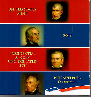 Mint Sealed 2009 United States Mint Presidential $1 Coin Uncirculated Set P&D