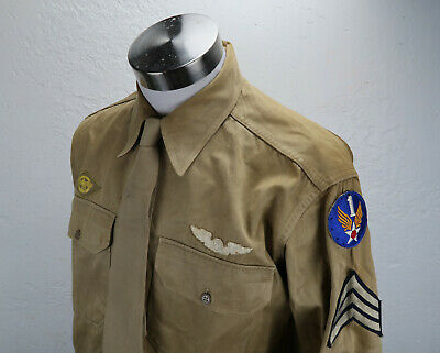 WWII Officer soldier dress WWI pilot uniform shirt US Army Air force Corp USAAF