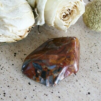 "PIETERSITE Polished Tumbled Chatoyant Stone 26.8gr 1.84"" w/ Healing Card"
