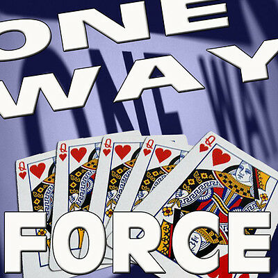 One Way Forcing Red Bicycle Deck Playing Cards Poker Gaff Force Magic Tricks