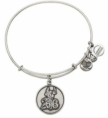 Disney Parks MICKEY MOUSE SORCERER Alex & Ani Silver Metae Charm Bracelet Bangle