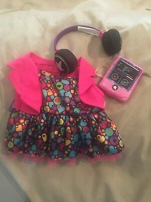 New Build A Bear Workshop Outfit W/tags Headset Radio That Plays No Tag
