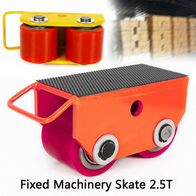 2.5T 5500lb Fixed Steel Machinery Mover Roller Dolly Skate+360° Swivel Top Plate