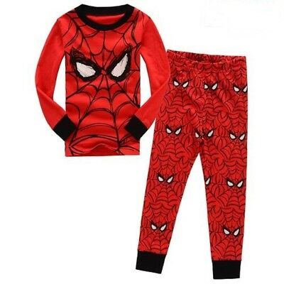 Baby Boys Spiderman Pajama Set Size 2T Child role playing clothes Breathable