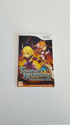 Tales of Symphonia Dawn of a New World Game Nintendo Wii Game Manual Only