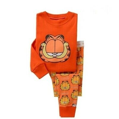 Boys Garfield Cartoon pattern pajamas size 3T Long sleeve trousers nightwear