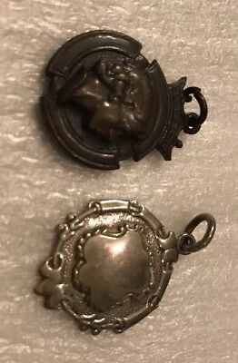 Antique English Solid Silver Albert Watch Fobs