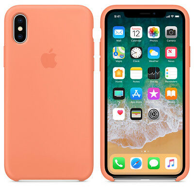 Peach GENUINE ORIGINAL Apple Silicone Case NEW iPhone X RRP $39