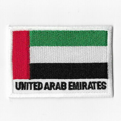 United Arab Emirates National Flag Iron on Patches Embroidered Applique Badge