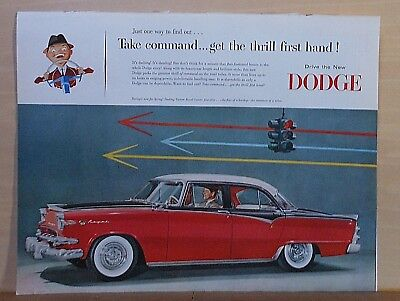 1955 magazine ad for Dodge - Custom Royal Lancer 4-door, Take Command get thrill