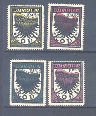Italian Colonies Occupation Rodi 1934 Airmail Set Very Fine Mnh