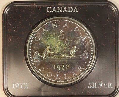 1972 Canada Dollar Silver Specimen Proof with Lovely Toning *FREE U.S. SHIPPING*