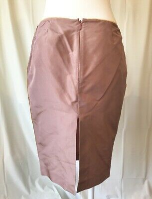 16787e6a750a TOM FORD GUCCI: BNWT! RP$900+ Lustrous Rose Pink Thick Satin Silk Skirt