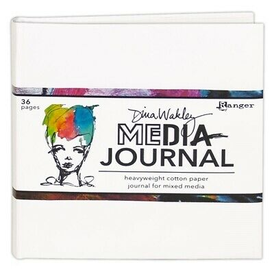 Dina Wakley Media Journal White 6 x 6