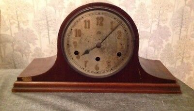 Antique Haller Nelson Hat Clock Westminster Chime Untested For Repair 44x22x16cm