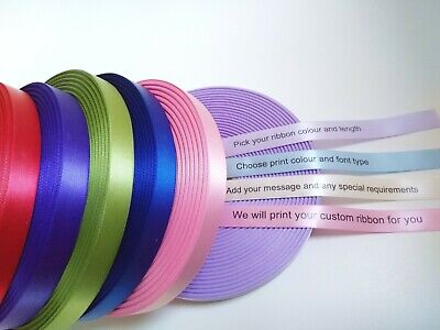 15mm HIGH QUALITY PERSONALISED RIBBON BIRTHDAY, XMAS, EASTER, CHRISTENING & MORE