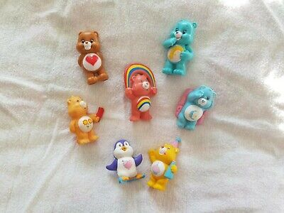 Care Bear Kenner Lot Collection of Mini Figure 1980s Vintage Toy Cake Toppers