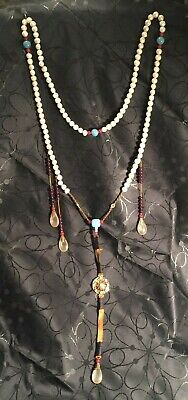 Antique Qing Dynasty Chou Zhu Court NecKlace Pearls and Semi-precious Stones