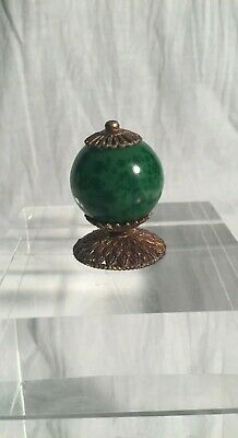 Chinese Antique Qing Dynasty Imperial Court Hat Sphere or Hat Finial, Manchu