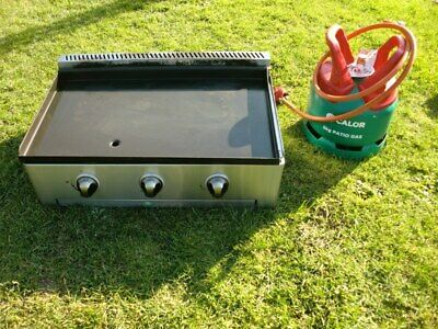FireFriend LPG Gas Griddle Patio Large 3 Burner Cooking BBQ Catering trailer