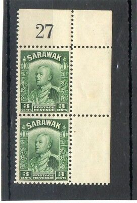 SG 108a SARAWAK CORNER PAIR N/H/MINT..CAT £15++ TWO SCANS