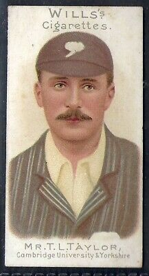Wills-Cricket Er Series 1901 (With Vignette)-#50- Yorkshire - Taylor