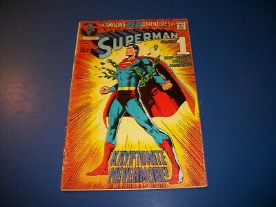 Superman #233 Bronze Age Neal Adams Classic Cover VG+ Wow Key