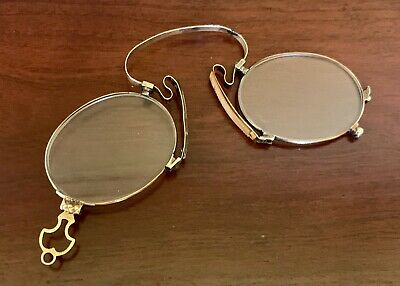 14K GOLD LORGNETTE Pince Nez Eyeglasses VICTORIAN ANTIQUE 12 Grams SCRAP?