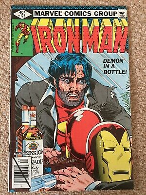 The Invincible Iron Man #128 (FN+) Iconic 'Demon In A Bottle' Cover.